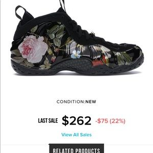 "Nike Shoes - Nike foamposite one ""floral"""